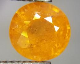 Spessartite, 2.45ct, round cut, unique gem!