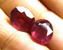 17.81 Tcw. Matched Fiery Rubies - Gorgeous