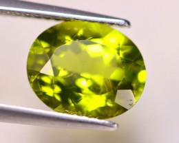 3.75ct Natural Green Peridot Oval Cut Lot V6481