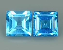 4.30 CTS WONDERFUL NATURAL SWISS BLUE TOPAZ 2 PCS NR!!