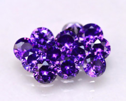 Amethyst 3.74Ct 12Pcs Natural Uruguay VVS Electric Purple Amethyst  E2904/C