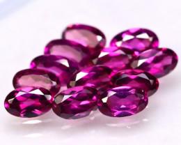 Rhodolite 3.74Ct 12Pcs Natural Purple Rhodolite Garnet E2906/B2