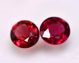 Rhodolite 2.51Ct 2Pcs Natural Cherry Red Rhodolite Garnet E2918/B26
