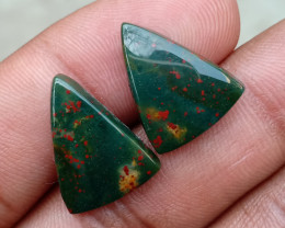 GENUINE BLOODSTONE GEMSTONE PAIR Natural+Untreated VA1161