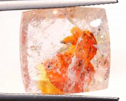 13.95 CTS KOI FISH QUARTZ FACETED STONE  BG-706