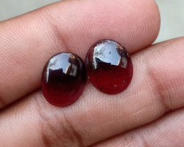 Almandine Garnet Cabochon Pair Natural+Untreated VA1204