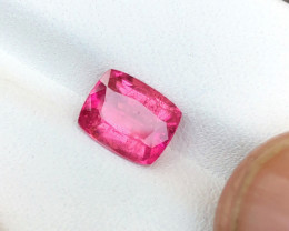 1.90 Ct Natural Pink Red Transparent Tourmaline Gemstone