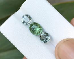 4.10 Ct Natural Green Transparent Tourmaline Gemstones Parcels