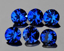 3.00 mm Round 6 pcs Intense Blue Sapphire [VVS]