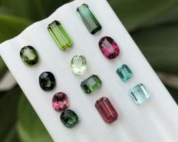 9 Ct Natural Multi Colors Transparent Tourmaline Gemstones Parcels