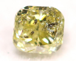 0.18Ct Natural Untreated Fancy Yellowish Green Color Diamond C2902