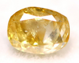 0.13Ct Natural Untreated Fancy Orangy Yellow Color Diamond C2903