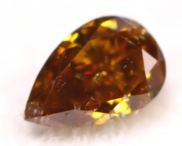 0.12Ct Natural Untreated Fancy Cognac Color Diamond C2904