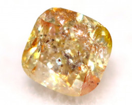 0.18Ct Natural Untreated Fancy Orangy Yellow Color Diamond C2907
