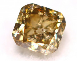 0.17Ct Natural Untreated Fancy Champagne Color Diamond C2911