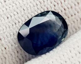 1.95CT NATURAL BLUE SAPPHIRE HEATED  BEST QUALITY GEMSTONE IIGC06