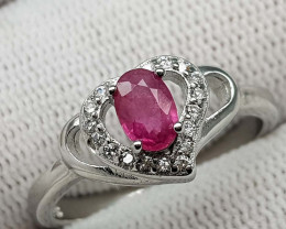 14.80CT NATURAL RUBY 925 SILVER RING  BEST QUALITY GEMSTONE IIGC06