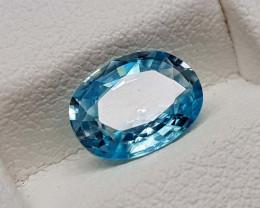 1.55Crt Natural Blue Zircon Natural Gemstones JI106