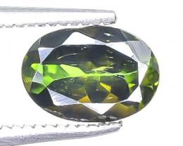 1.22 Crt Natural Chrome Tourmaline Faceted Gemstone.( AB 39)