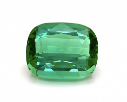 43.30 Ct Natural Mint Green Tourmaline From Afghanistan