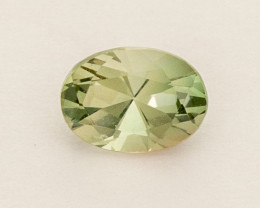 0.8ct Green / Clear Oval Oregon Sunstone (S2561)
