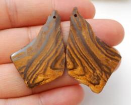 35.5cts nugget boulder opal earrings ,rectangle earrings ,healing stone F58