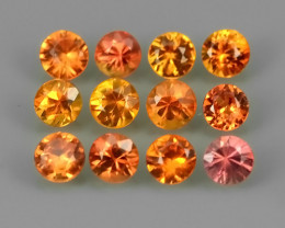 1.45 CTS EXCELLENT~NATURAL RARE FANCY~YELLOWISH~ORANGE MADAGASCAR~SAPPHIRE~