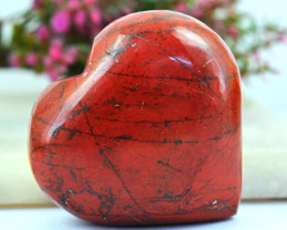 Genuine 355.00 Cts Red Jasper Heart Shape Gem