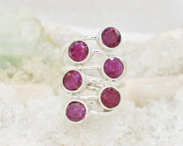 RUBY RING 925 STERLING SILVER NATURAL GEMSTONE JR401