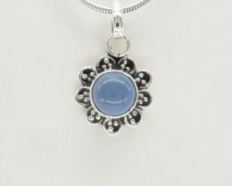 CHALCEDONY PENDANT 925 STERLING SILVER NATURAL GEMSTONE JP233