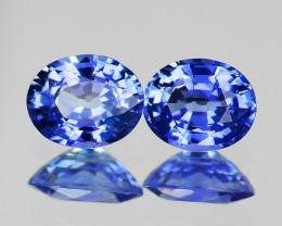 5x4 mm Oval 2 pcs  0.86ct Blue Sapphire [VVS]