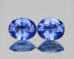 5x4 mm Oval 2 pcs 1.08cts Blue Sapphire [VVS]