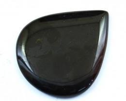 Genuine  145.00 Cts  Onyx Pear Shape Cabochon V116