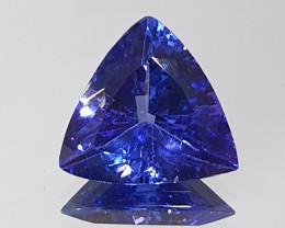 3.21ct Deep Blue Clean Tanzanite Tillion 10.5mm (SKU 118)