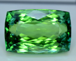 128 Carats Amazing Lush Green Hiddenite Kunzite Gemstone