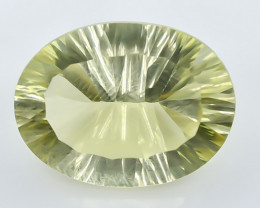13.38 Crt Lemon Quartz Faceted Gemstone (Rk-11)