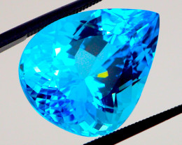 """PARAIBA"" COLOR! VVS! NEON BLUE 25.99 CT Topaz (Brazil) 