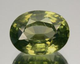 3.46 Cts Natural Sparkling Green Zircon Oval Cut Sri Lanka