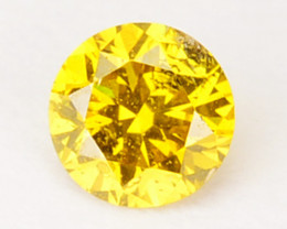 ~SPARKLING~ 0.09 Cts Natural Diamond Golden Yellow 2.7mm Round Africa