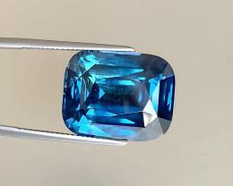 Rare Indigo Blue Sapphire Cushion 30ct - No Heat - Tanzania - Lotus Certifi