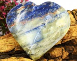 Genuine 484.00 Cts Sodalite Heart Cabochon