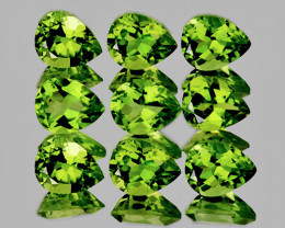 5x4 mm Pear 9 pcs 3.28cts Green Peridot [VVS]