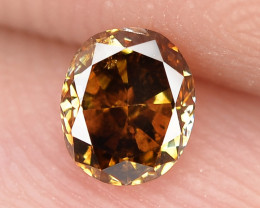 0.30 Cts Untreated Natural Fancy Deep Brown Color Loose Diamond