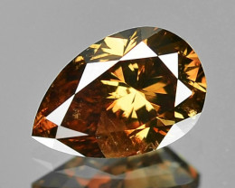 0.31 Cts Untreated Natural Fancy Deep Brown Color Loose Diamond