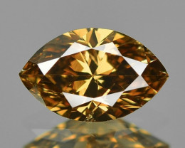 0.35 Cts Untreated Natural Fancy Orange Brown Color Loose Diamond