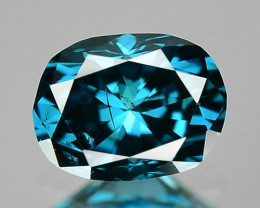 0.34 Cts Untreated Natural Fancy Vivid Blue Color Loose Diamond