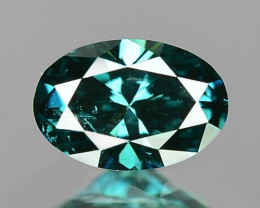 0.24 Cts Untreated Natural Fancy Greenish Blue Color Loose Diamond