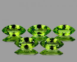 8x4 mm Marquise 40 pieces 2.50cts Green Peridot [VVS]