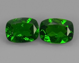2.60 CTS NATURAL GENUINE LUSTROUS  CHROME DIOPSIDE CUSHION GEM!!