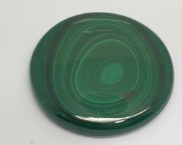 130.9 ct Big Round Malachite Cabochon 41.3mm(SKU158)